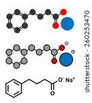 sodium phenylbutyrate urea... | Shutterstock .eps vector #260253470