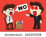 boss fired from his job | Shutterstock .eps vector #260254358