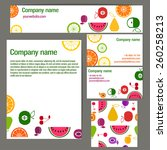 set of business cards and... | Shutterstock .eps vector #260258213