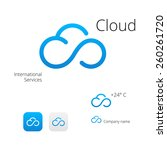 cloud stylish logo and icons | Shutterstock .eps vector #260261720