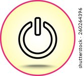 power on off button sign icon ... | Shutterstock .eps vector #260264396