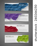 abstract polygonal banners with ... | Shutterstock .eps vector #260266250