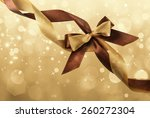 satin ribbon bow on bright... | Shutterstock . vector #260272304