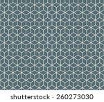 seamless denim blue isometric... | Shutterstock .eps vector #260273030