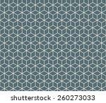 seamless denim blue isometric... | Shutterstock . vector #260273033