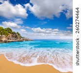 Small photo of Majorca Playa de Illetas Balneario beach in Mallorca Bendinat Calvia at Balearic islands of spain