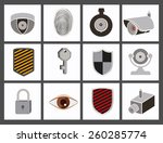 security and insurance design ... | Shutterstock .eps vector #260285774