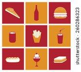 fast food design  vector... | Shutterstock .eps vector #260286323