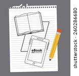 e book design  vector... | Shutterstock .eps vector #260286680