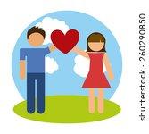 love card design  vector... | Shutterstock .eps vector #260290850