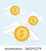 money fly design  vector...   Shutterstock .eps vector #260291279