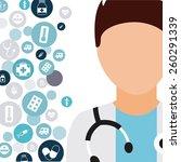 health care design  vector... | Shutterstock .eps vector #260291339