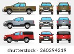 vector pickup truck   side  ... | Shutterstock .eps vector #260294219