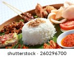 healthy and delicious... | Shutterstock . vector #260296700