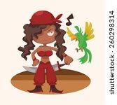 cartoon pirate   | Shutterstock . vector #260298314
