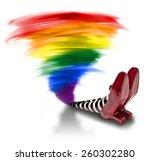 Rainbow Tornado Fallen On The...