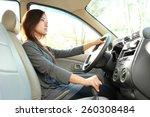 portrait of bussinesswoman... | Shutterstock . vector #260308484