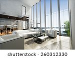 luxury estate interior with... | Shutterstock . vector #260312330