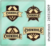 corn hole logos | Shutterstock .eps vector #260313809
