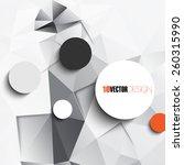 geometric triangular embossed... | Shutterstock .eps vector #260315990