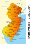 vector color map of new jersey... | Shutterstock .eps vector #26032204