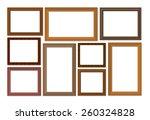 wooden frame isolated on white... | Shutterstock . vector #260324828