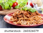 Spaghetti Bolognese With Chees...