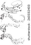 four set of music notes | Shutterstock .eps vector #260332403
