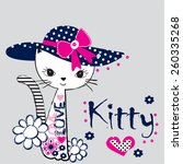 fashionable cat  t shirt design ... | Shutterstock .eps vector #260335268