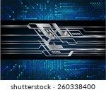 dark blue color light abstract...   Shutterstock .eps vector #260338400