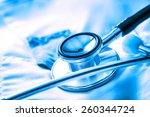 stethoscope on white medical