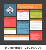 vector minimalist cv   resume... | Shutterstock .eps vector #260347709