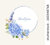 vector round frame of blue...   Shutterstock .eps vector #260348768