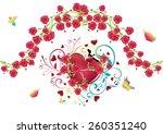 red glossy heart illustration... | Shutterstock .eps vector #260351240