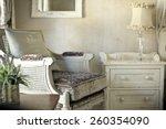shabby chic interior design  | Shutterstock . vector #260354090