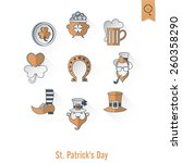 saint patrick's day isolated... | Shutterstock .eps vector #260358290