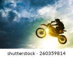 Motocross Bike Jump. Motocross...