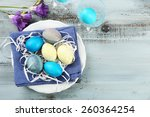 easter composition with...   Shutterstock . vector #260364254