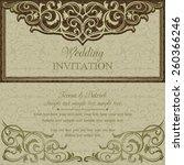 antique baroque wedding... | Shutterstock .eps vector #260366246