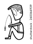creature people funny... | Shutterstock .eps vector #260366939
