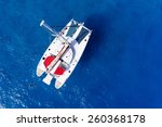 amazing view to catamaran... | Shutterstock . vector #260368178
