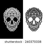 skull of floral shapes. vector... | Shutterstock .eps vector #260370338