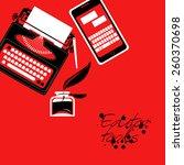 set of editor tools. vector... | Shutterstock .eps vector #260370698