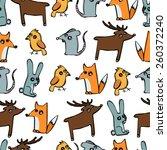 animals seamless | Shutterstock .eps vector #260372240