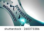 preventive maintenance on the... | Shutterstock . vector #260373386