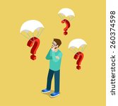 so many questions flat 3d...   Shutterstock .eps vector #260374598