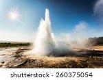 Geysir  Geyser Park In Iceland...