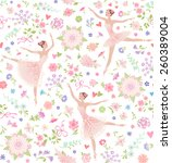 seamless pattern with dancing... | Shutterstock .eps vector #260389004