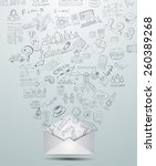 idea concept layout for... | Shutterstock .eps vector #260389268
