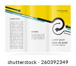 brochure design template arrows ...   Shutterstock .eps vector #260392349